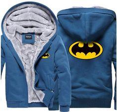 b964dbb5e90 Warm Liner The Flash Male Coat Jacket Batman Hoodies Winter Superman  cosplay Sweatshirts Blazer