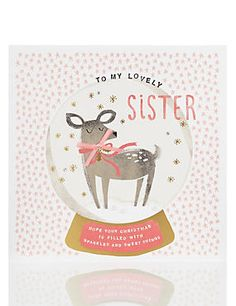My Deer Sister Christmas Card