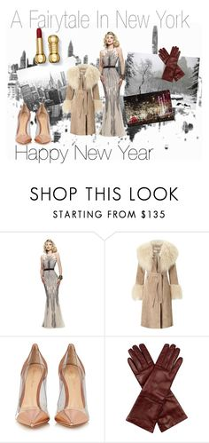 """""""Happy New Year - A Fairytale In New York"""" by hippieswithclass ❤ liked on Polyvore featuring Faviana, Miss Selfridge, Gianvito Rossi and Weekend Max Mara"""
