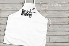 BBQ Apron, Grill Father, Customized Barbecue Apron, Fathers day gift, Gifts for Him, Cute Apron, grilling apron, great grilling dad gift by saidthecrow on Etsy