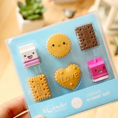 Buy 6 Pcs/Set New Kawaii Kids Square Round Biscuit Milk Rubber Erasers pencil Eraser For Kids Gifts at Wish - Shopping Made Fun Kawaii Cookies, Cute Office Supplies, Office And School Supplies, School Stationery, Kawaii Stationery, Milk Biscuits, Cool Erasers, Cute Stationary, Diy Earrings