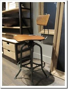 Restoration Hardwood chair I found a few years ago; perfect for the kitchen or study.