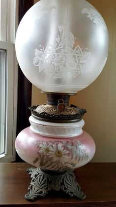 Outstanding Gone With The Wind Pedestal Lamp Ornate Bradley & Hubbard c. 1880
