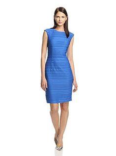 57% OFF Chetta B Women's Pleated Sheath Dress (Cobalt)