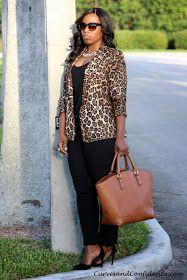 Curves and Confidence | Inspiring Curvy Women One Outfit At A Time: Leopard Obsession