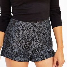 Pins and needles jacquard short Gorgeous and comfortable silver and black shorts. Worn once Urban Outfitters Shorts