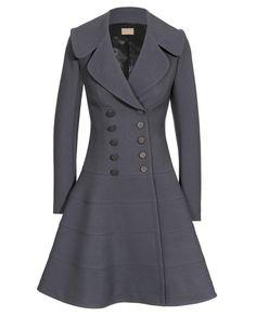 Azzedine Alaia Wool Princess Coat