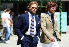 The man to the left, whom I believe is Italian, is a regular on the Sartorialist. He proves that models don't need to be rail-thin, pouty, or smooth as a shaved chicken to look good.