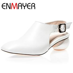 53.08$  Watch more here - http://ai0wk.worlditems.win/all/product.php?id=32630805335 - ENMAYER Women 2 Colors Elegant Spring and Autumn Shoes Stranger Style Sandals Woman Shoes Back Strap Sandals Fashion Shoes