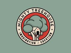 Mighty Treehouse - Contemporary logo badge (by Alex Rinker).