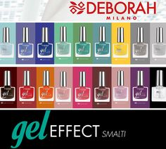 Deborah Milano Gel Effect: nuovi colori per il 2015 http://bit.ly/1vRGjIo ‪#‎newcollection‬ ‪#‎nails‬ ‪#‎nail‬ ‪#‎nailpolish‬
