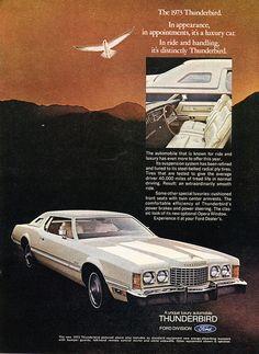 1973 Ford Thunderbird Advertisement Newsweek April 16 1973 | Flickr - Photo Sharing!