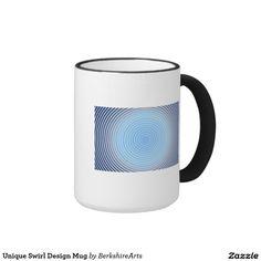 ユニークな渦巻のデザインのマグ リンガーマグカップ