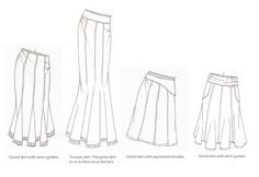 Gores are shaped sections of fabric that allow the waist of a skirt to be shaped without the use of tucks or gathers. The number of gores used to make...