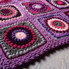 Pattern for this Textured Granny Square is given. She has a lot of different color combinations given. This is just 1 of the blankets that it was made from.