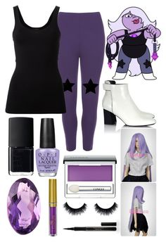 """Amythist (Steven Universe)"" by thefnaftheorists ❤ liked on Polyvore featuring WearAll, Proenza Schouler, Theory, NARS Cosmetics, Loquet, OPI, Clinique and Elizabeth Arden"