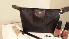 Black Cosmetic Bag - Travel Bag - Waterproof Toiletry Bag - http://oleantravel.com/black-cosmetic-bag-travel-bag-waterproof-toiletry-bag