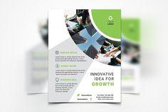 Business Flyer by UNIK Agency on @creativemarket Business Innovation, Corporate Business, Lab Logo, Creative Photoshop, Creative Flyers, Lorem Ipsum, Color Change, Graphic Design, Templates