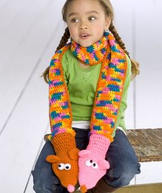 Crochet Puppet Scarf. Rylee would love these!!