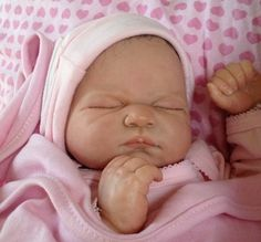Reborn baby girl was Lilly May sculpt