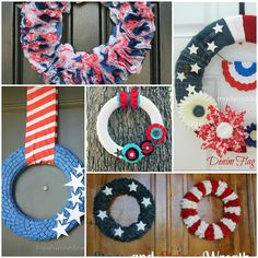Are you  looking for a cute 4th of July, DIY wreath to spruce up your door, mantel, or party decor? Here are five tutorials for creating unique wreaths that celebrate the ole' red, white, and blue in style!