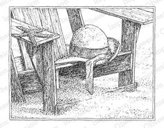 Impression Obsession - Cling Mounted Rubber Stamp - By Gary Robertson - Beach Chair,$9.29