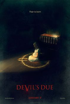 Devils Due (2014) Directed by Matt Bettinelli-Olpin, Tyler Gillett. After a mysterious, lost night on their honeymoon, a newlywed couple finds themselves dealing with an earlier-than-planned pregnancy. While recording everything for posterity, the husband begins to notice odd behavior in his wife that they initially write off to nerves, but, as the months pass, it becomes evident that the dark changes to her body and mind have a much more sinister origin.