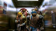 "Loving the ""NO WEAPONS"" sign! ~ TMNT"