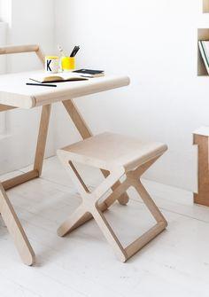 K desk + x stool by Rafa-kids