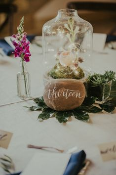 Wedding Stone Table Number
