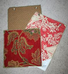 Bags from drapery and upholstery samples. - Handmade Gifts Are Best