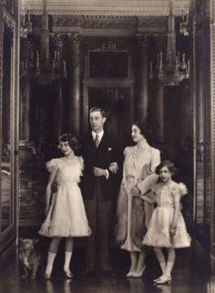 King George VI, Queen Elizabeth, Princess Elizabeth, and Princess Margaret