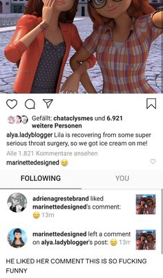 [is this real? idk! Who in the Ladybugverse is using Insta in German??] Miraculous Ladybug Fanfiction, Miraculous Ladybug Fan Art, Meraculous Ladybug, Ladybug Comics, Kids Shows, Tv Shows, Lady Bug, Image Pinterest, Adrien Y Marinette