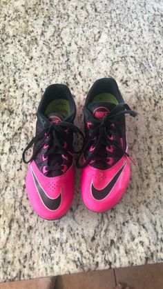 f6cae2190232e Womens Nike Zoom Rival Racing Hot Pink Black Track Shoe Size 7 Worn Once! #