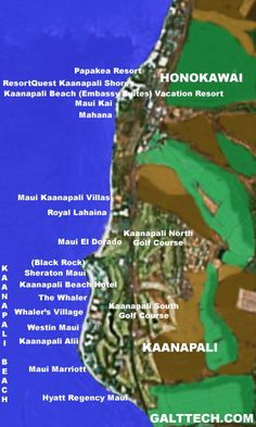 Kaanapali Beach Resort Map See Where All The Resorts And Hotels Are Located With Descriptions Of Each