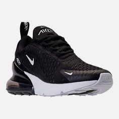 Three Quarter view of Women's Nike Air Max 270 Casual Shoes Dr Shoes, Cute Nike Shoes, Black Nike Shoes, Nike Air Shoes, Hype Shoes, Black Sneakers, Casual Sneakers, Black Nikes, Sneakers Fashion