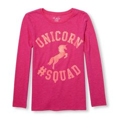 Girls Pony/Unicorn Shirt New with Tag Sz 10/12 Long Sleeve Sparkle Accent Kids!! #TheChildrensPlace #Everyday