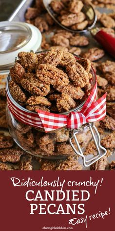 Pecan Recipes, Candy Recipes, Holiday Recipes, Family Recipes, Beef Recipes, Vegetarian Recipes, Healthy Recipes, Candied Pecans Recipe, Candied Nuts