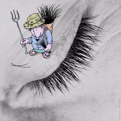 Illustrator Lucas Levitan adds funny cartoons to strangers' Instagram photos