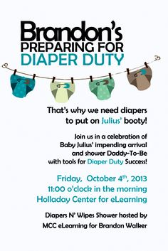 Exceptional Diaper And Wipes Themed Baby Shower In A 4x6   Available Only From  Facebook.com