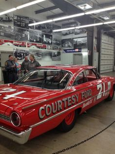 Replica vintage Wood Brothers race car. Built by the Wood Bros. 1961Ford Starliner.