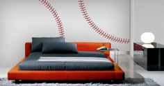 A clever design for the baseball lovers. Check out our baseball stitches wall decals, a great pack of stitches to decorate your boy's room or man cave tastefully.