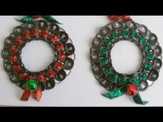This tutorial will teach you how to make a pop tab wreath. Jacy used Lion Brand Yarn, Hometown USA, Super Bulky 6 to make her wreath. You can make your wreat...