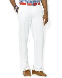 Polo Ralph Lauren Classic-Fit Flat-Front Chino Pant