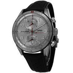 Oris Men's 774 7661 7481 LS 'Audi Sport' Dial Black Strap Chronograph Limited Edition