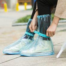 PVC Lluvia Ajustable Slip Overshoes Cubierta Del Zapato Puerto de la Viga Impermeable a prueba de agua de Alta Superior Al Por Mayor A Granel Accesorios Suministros(China (Mainland))