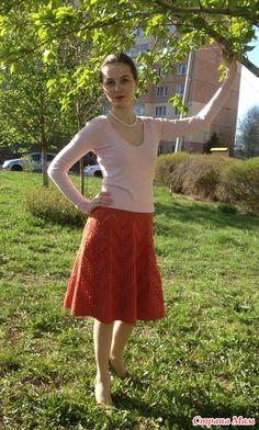 Здравствуйте, дорогие мастерицы!  Мне хочется показать вам еще один свой дебют- юбку, связанную спицами. Создалась она в рамках тестирования у Наталии Radegast.