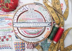 Broaden Your Hand Embroidery Horizons With This Printed Sampler Embroidery Sampler, Hand Embroidery Patterns, Embroidery Thread, Embroidery Designs, Custom Embroidery, Different Stitches, Stitch Book, Cotton Quilting Fabric, Back Stitch