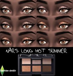 Sims 4 CC's - The Best: NARS Long Hot Summer eyeshadow palette by bernies-. Sims Four, Sims 4 Mm, My Sims, Summer Eyeshadow, Eyeshadow Set, Eyeshadow Palette, Sims 4 Cc Eyes, The Sims 4 Skin, Sims 4 Traits