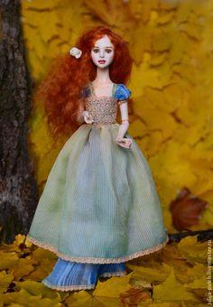 Купить Шарнирная кукла Осенняя Сказка - бежевый, бжд, шарнирная кукла, шарнирная, шарнирка